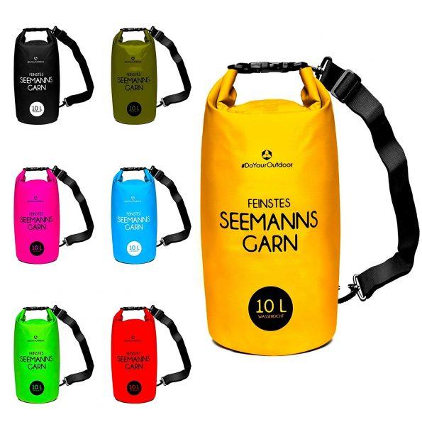 Jetzt zu günstigen Preise einen Drybag bzw. Seesack kaufen. Wasserdichte Beutel zum Schwimmen und Tauchen bei #DoYourOutdoor.
